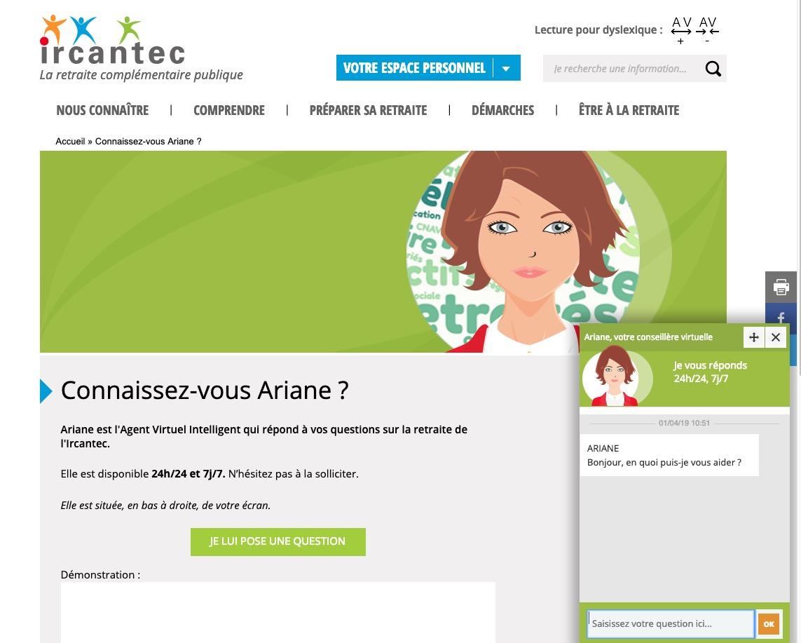 chatbot-ariane-ircantec