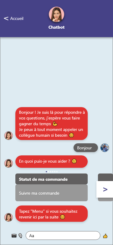 scenario chatbot sav