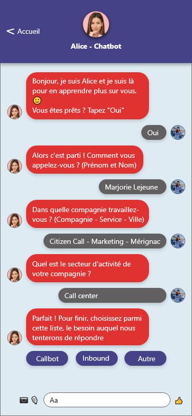 scenario chatbot qualification